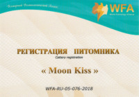 Registration of the cattery «Moon Kiss»